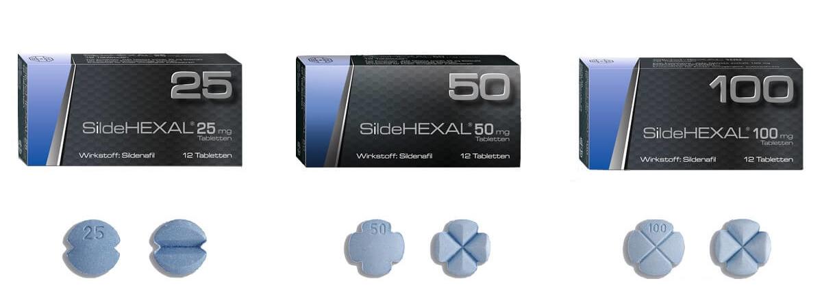 SildeHEXAL Potenzmittel Filmtabletten 25 mg 50 mg 100 mg